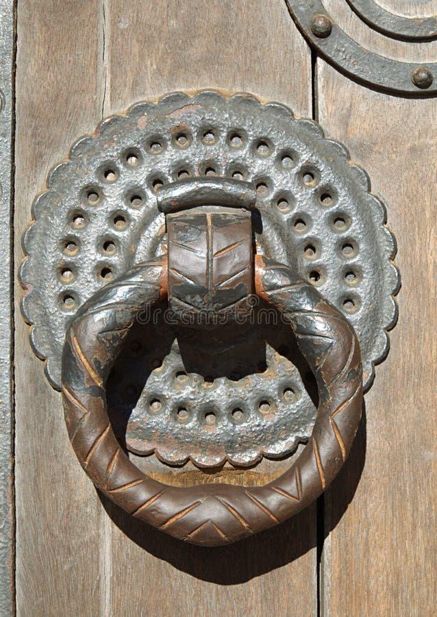 通道门环,里斯本大教堂 免版税图库摄影