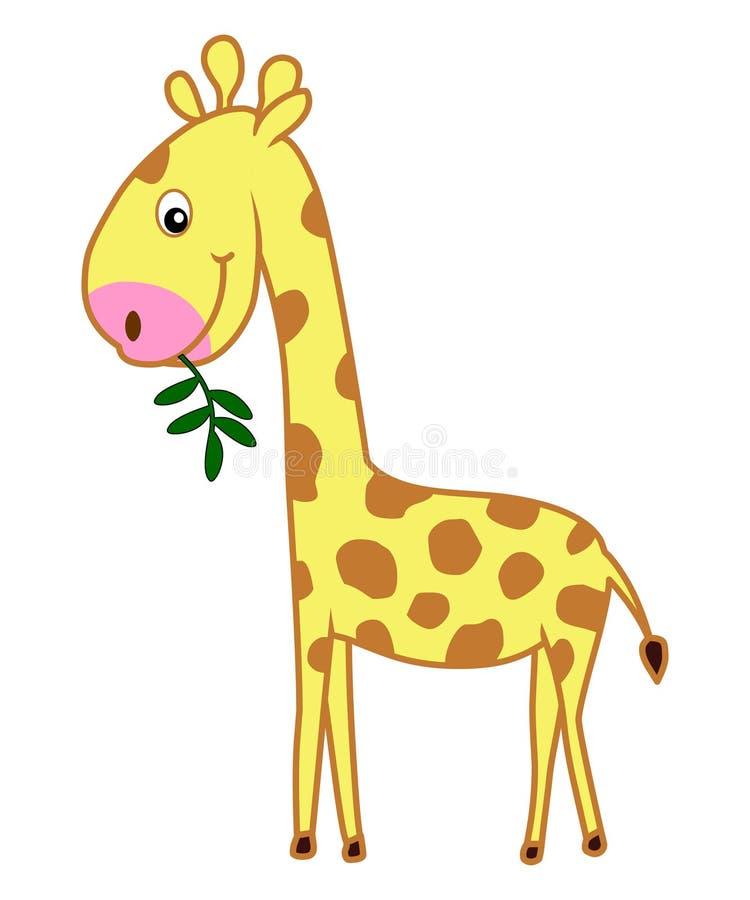 通配动物动画片长颈鹿的哺乳动物 向量例证