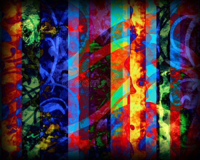 通配抽象的colore 库存例证
