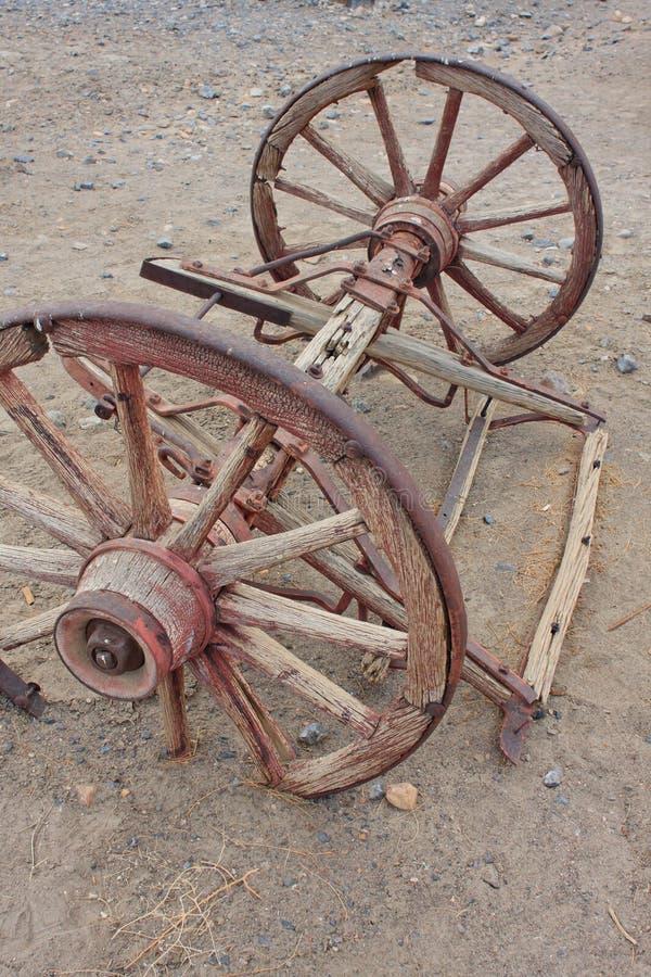 通配支架老西方的轮子 库存图片