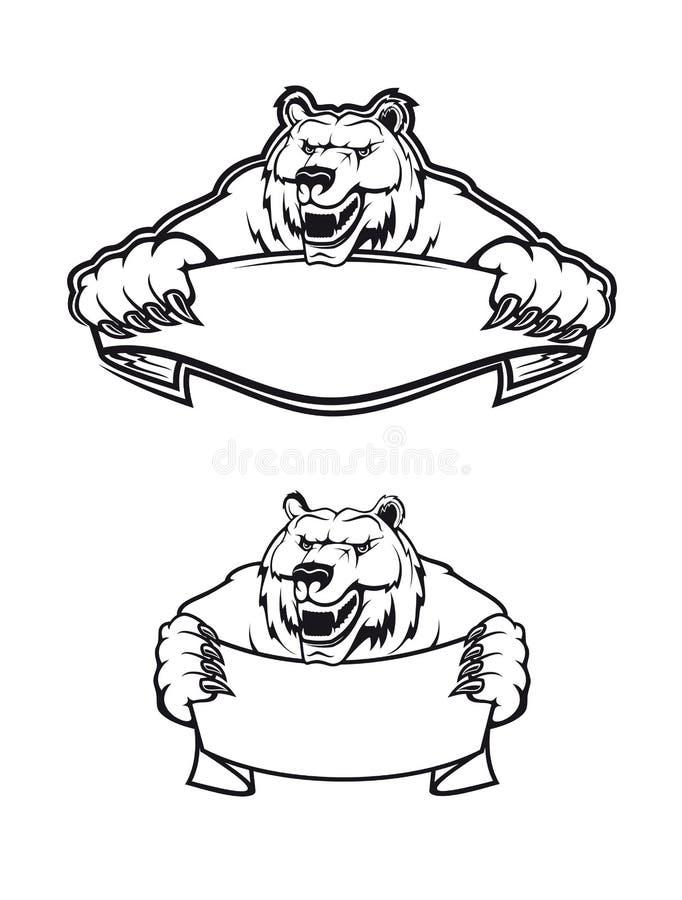 通配熊的科迪亚克熊 库存例证