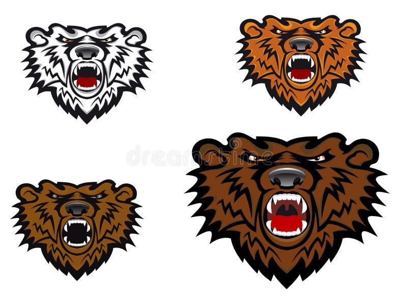 通配熊的纹身花刺 向量例证