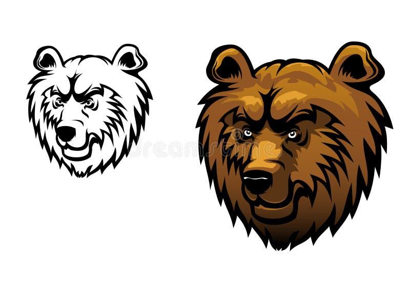 通配熊的纹身花刺 皇族释放例证