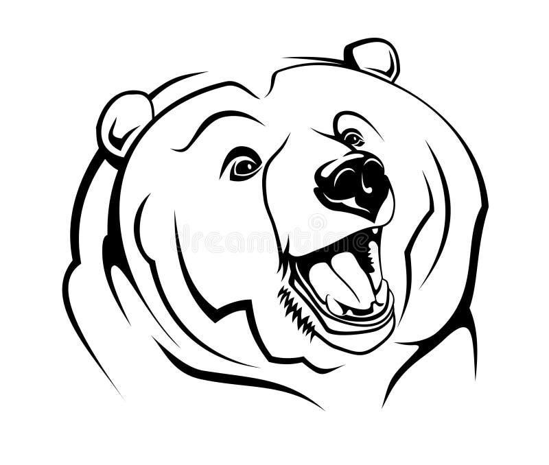 通配的熊 库存例证