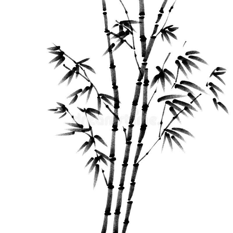 通配的竹子 向量例证