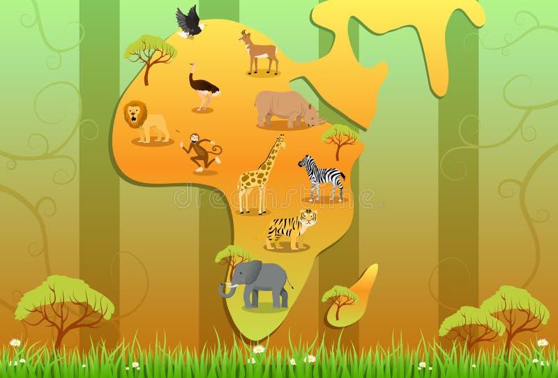 通配的非洲 皇族释放例证