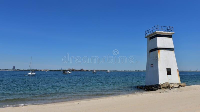 通风点塔女王/王后纽约沿海地带私有海滩 库存图片