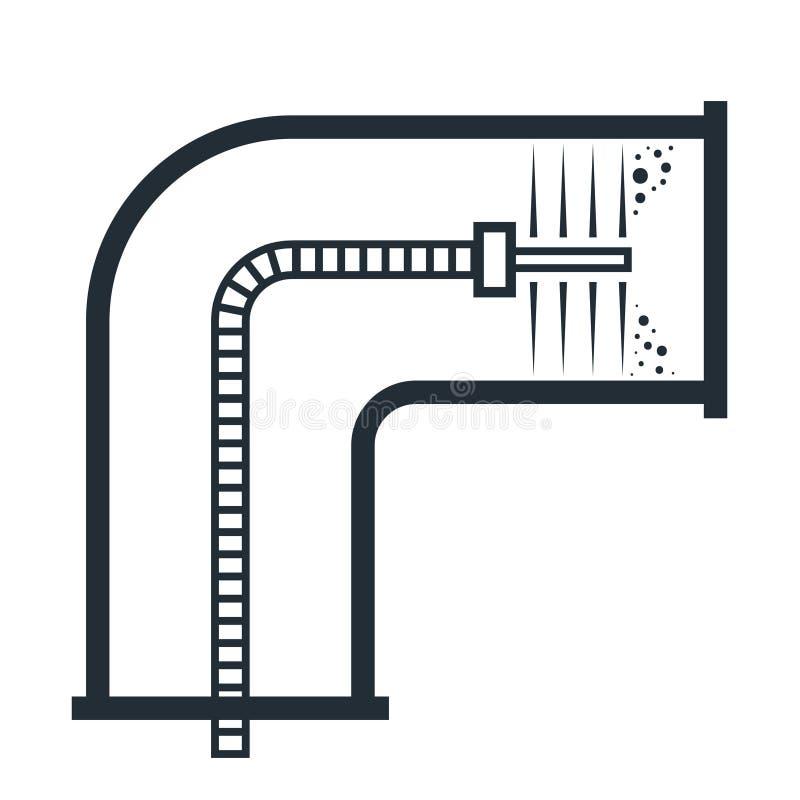 通风管清洁概述 向量例证
