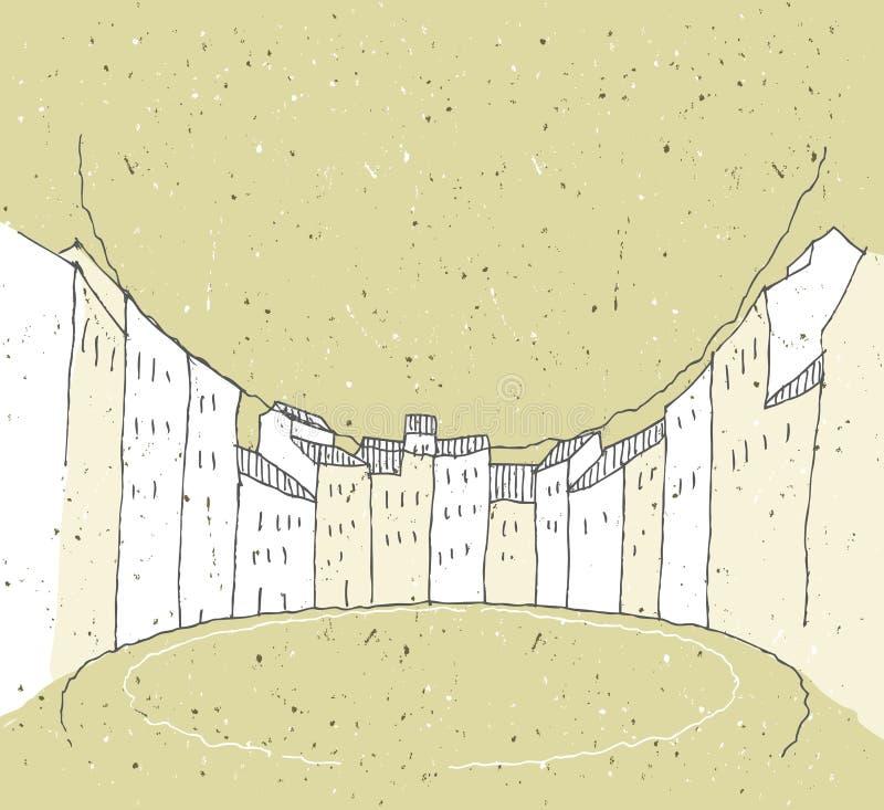 速写历史建筑学在意大利 向量例证
