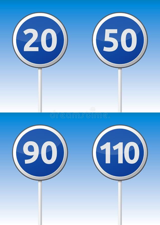 速度交通路板 向量例证