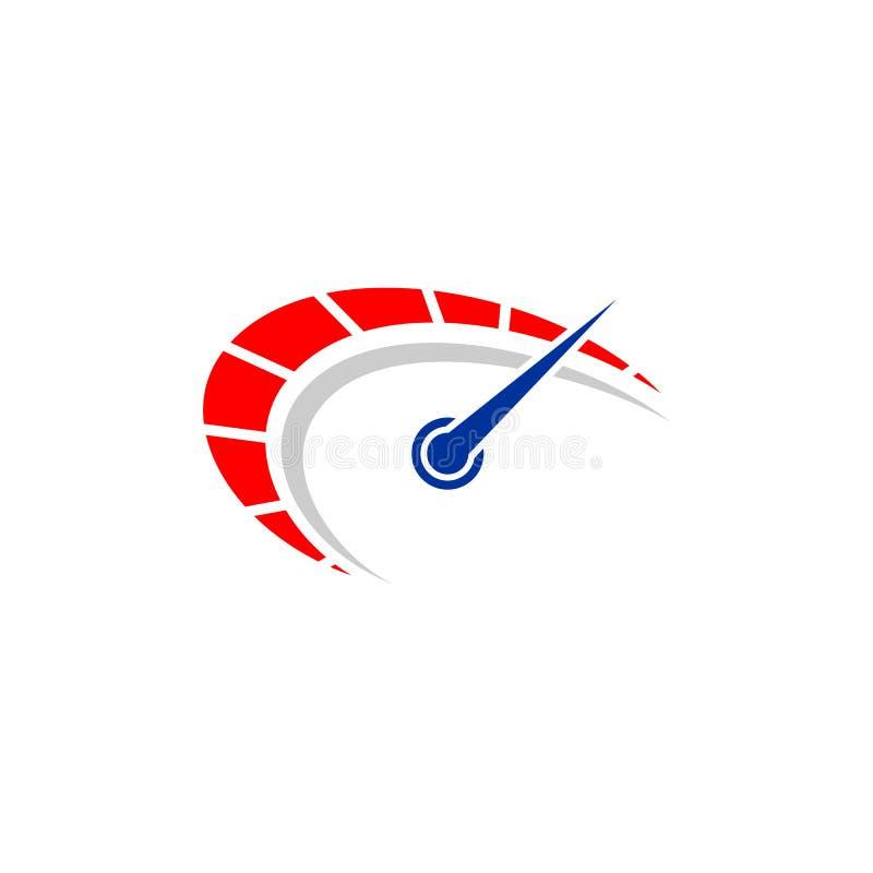 速度传染媒介商标设计 车速表象标志设计模板 向量例证