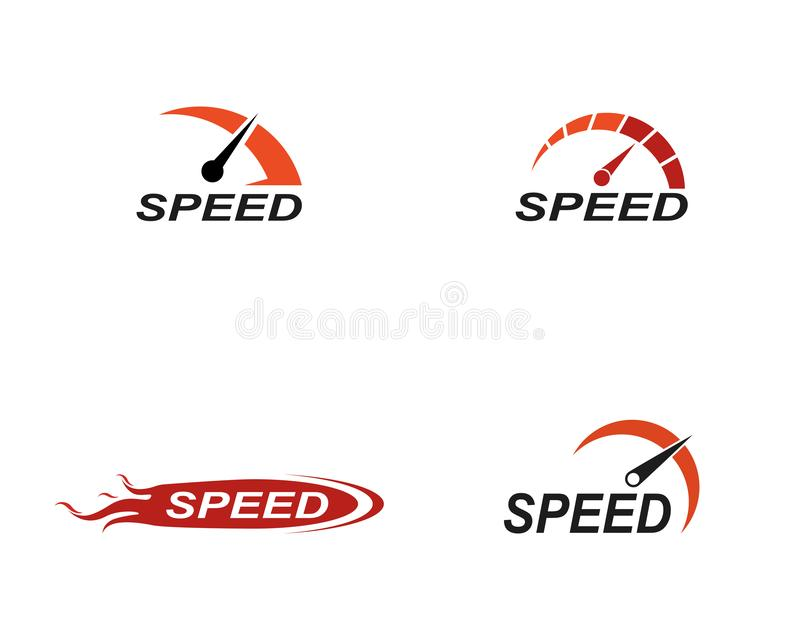速度商标更加快速的模板传染媒介象例证 皇族释放例证