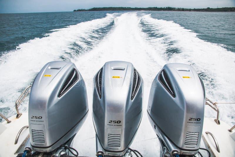 速度小船的引擎 库存照片