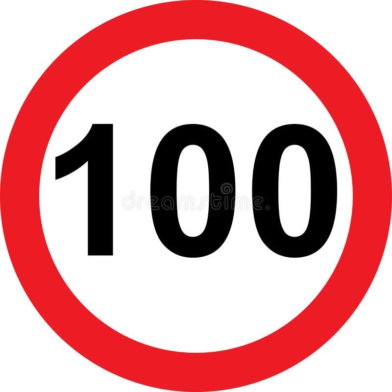 100速度局限路标 向量例证