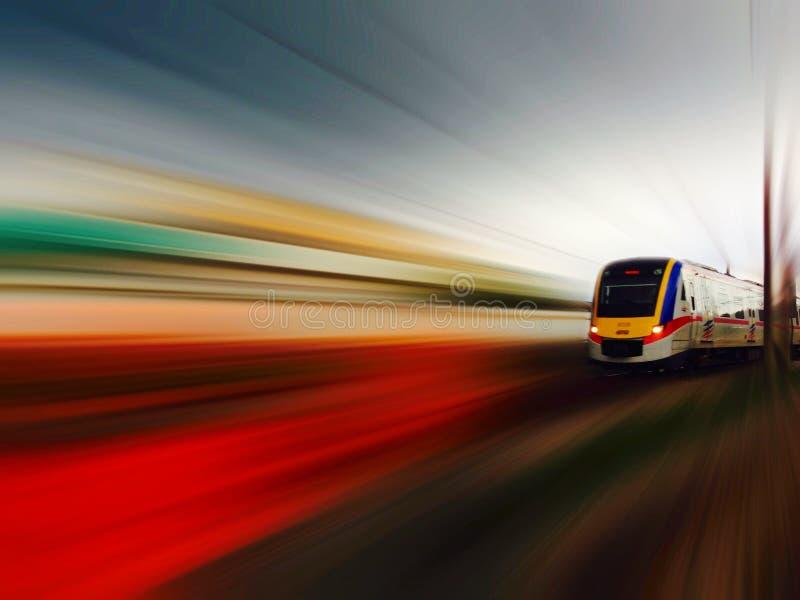 速度火车 免版税库存照片