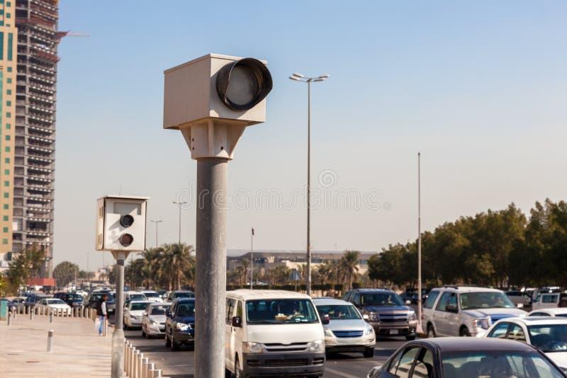 速度照相机在城市 库存图片