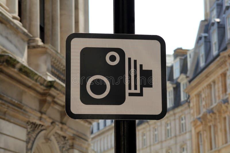 速度照相机标志 库存照片