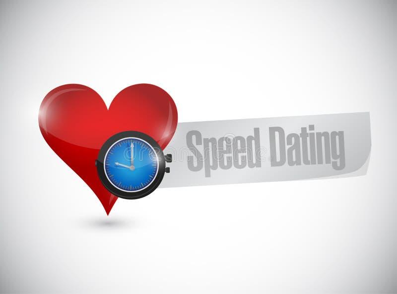 速度约会心脏手表标志概念 库存例证