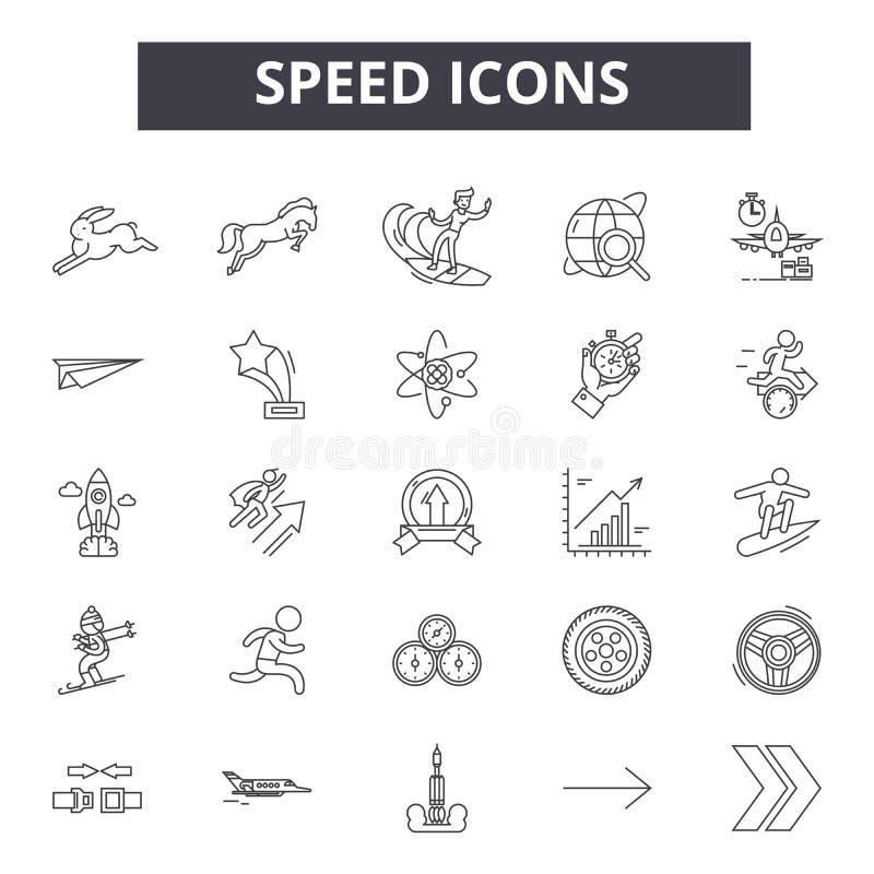 速度线象,标志,传染媒介集合,概述例证概念 库存例证
