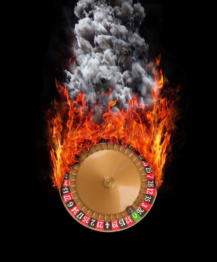 速度-火和烟足迹的概念  库存例证