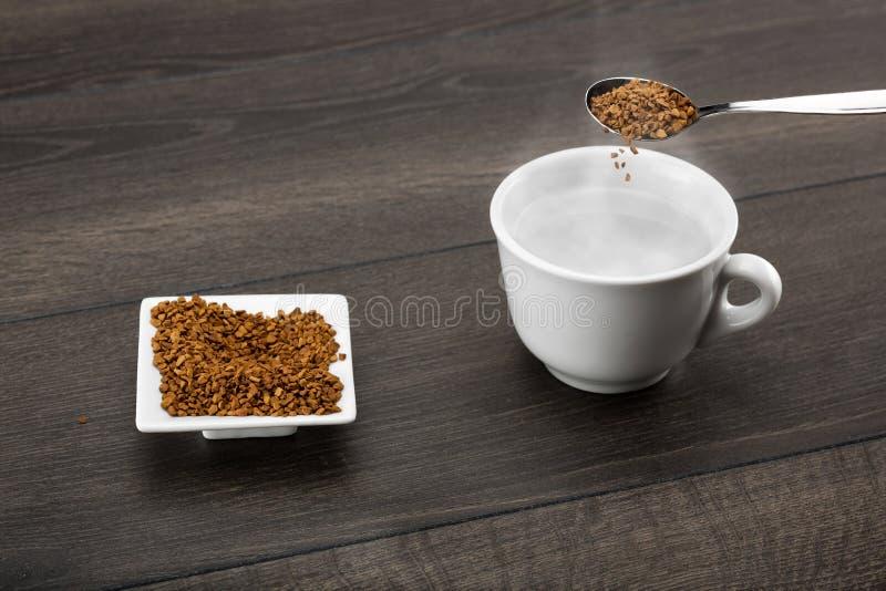 速溶咖啡 免版税库存照片