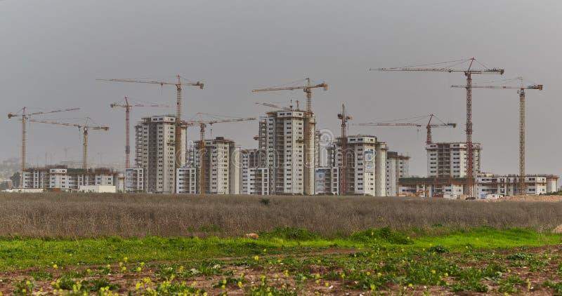 建造场所在以色列 免版税库存照片