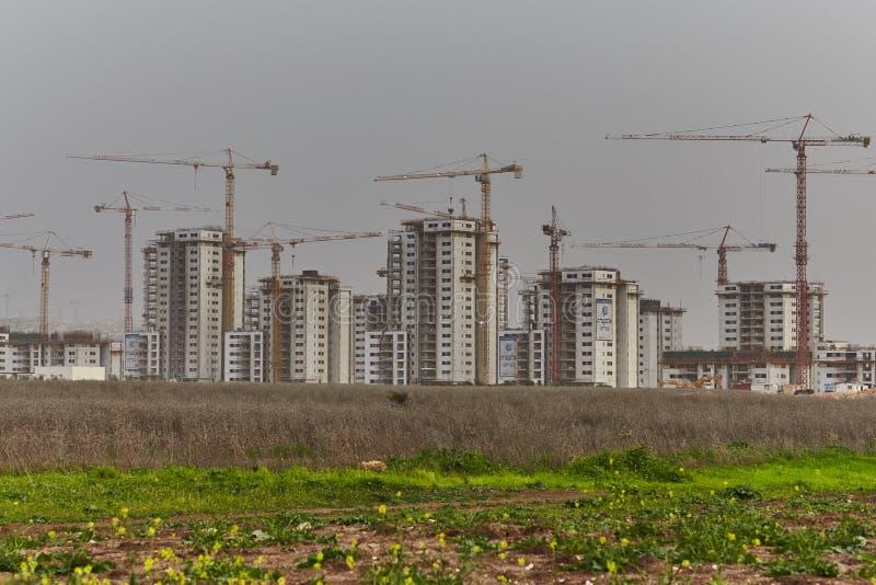 建造场所在以色列 免版税库存图片