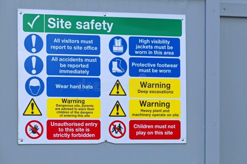 建造场所安全 免版税库存照片