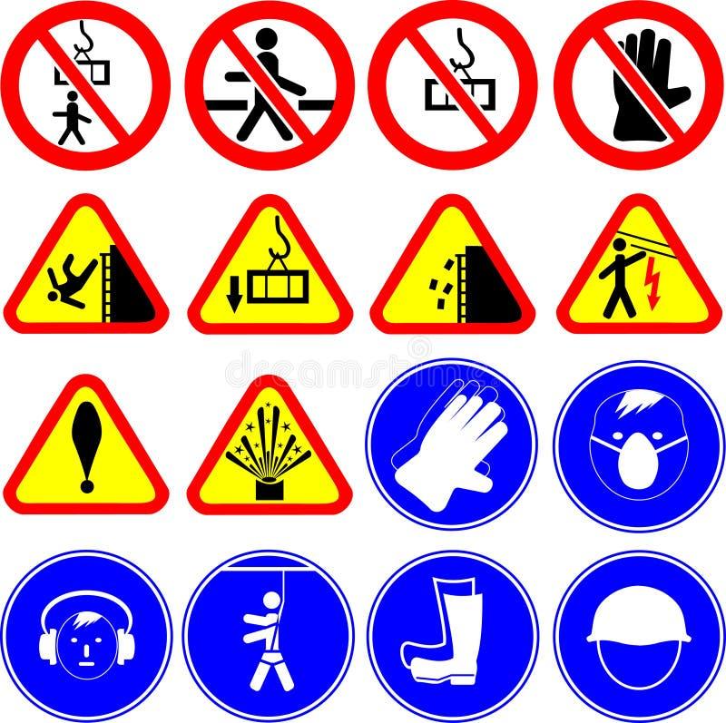 建造场所标志/传染媒介 免版税库存照片