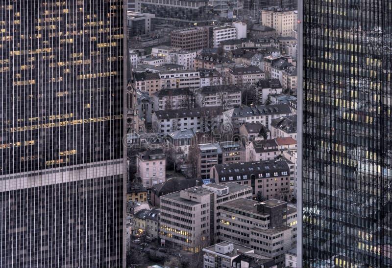 造成缝隙都市 免版税库存图片