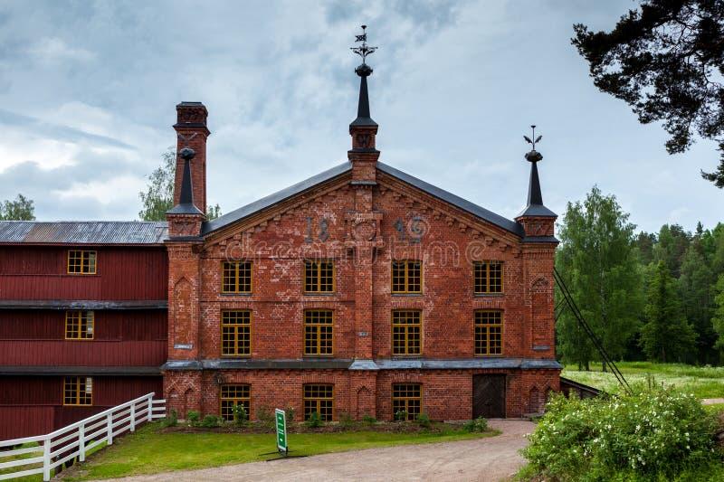造纸厂博物馆Werla (Verla) 芬兰 免版税库存图片