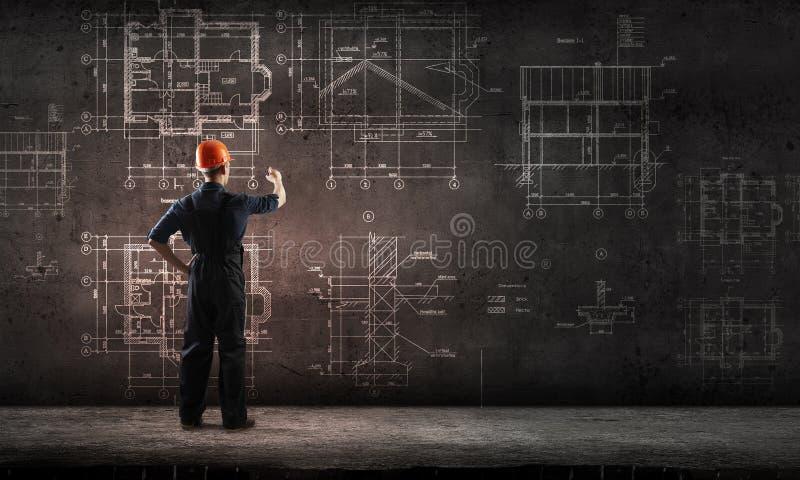 建造者人凹道项目 免版税库存图片
