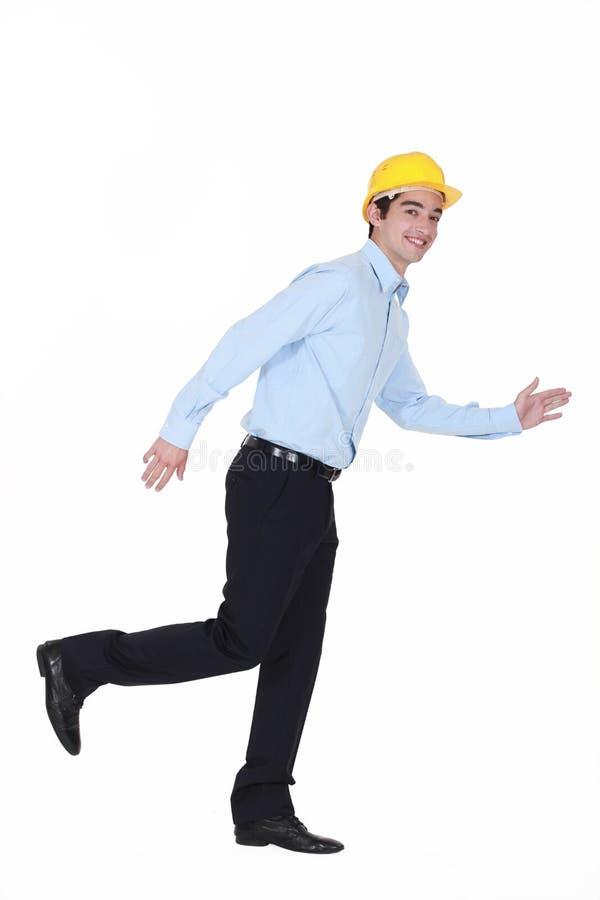 建造者赛跑 免版税库存图片