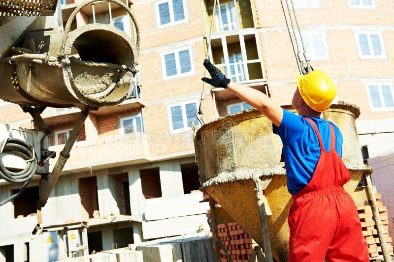 建造者建造场所工作者 免版税图库摄影