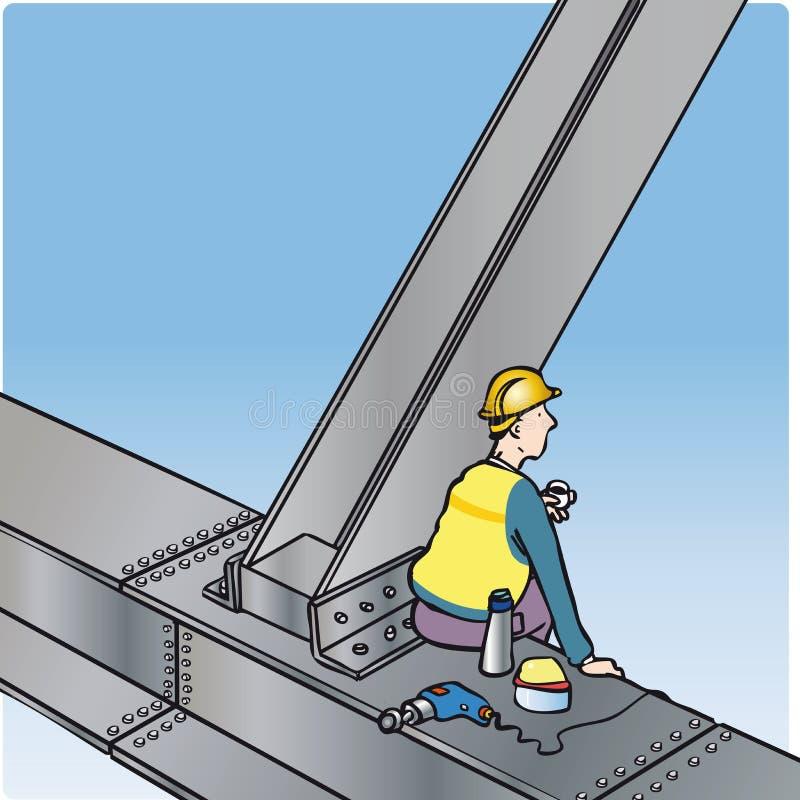 建造者 向量例证
