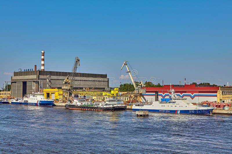 造船企业Almaz在圣彼德堡 俄国 免版税库存图片