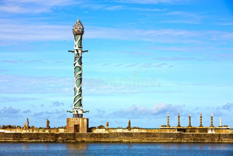 造船厂公园recife雕塑 免版税库存图片