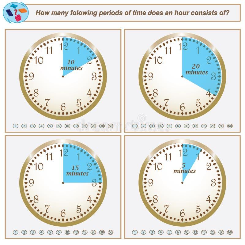 逻辑任务 多少个folowing的时期做1小时骗局 库存例证
