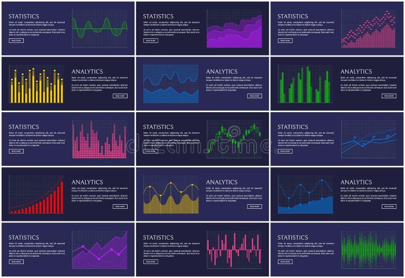 逻辑分析方法和统计Infographics汇集 皇族释放例证