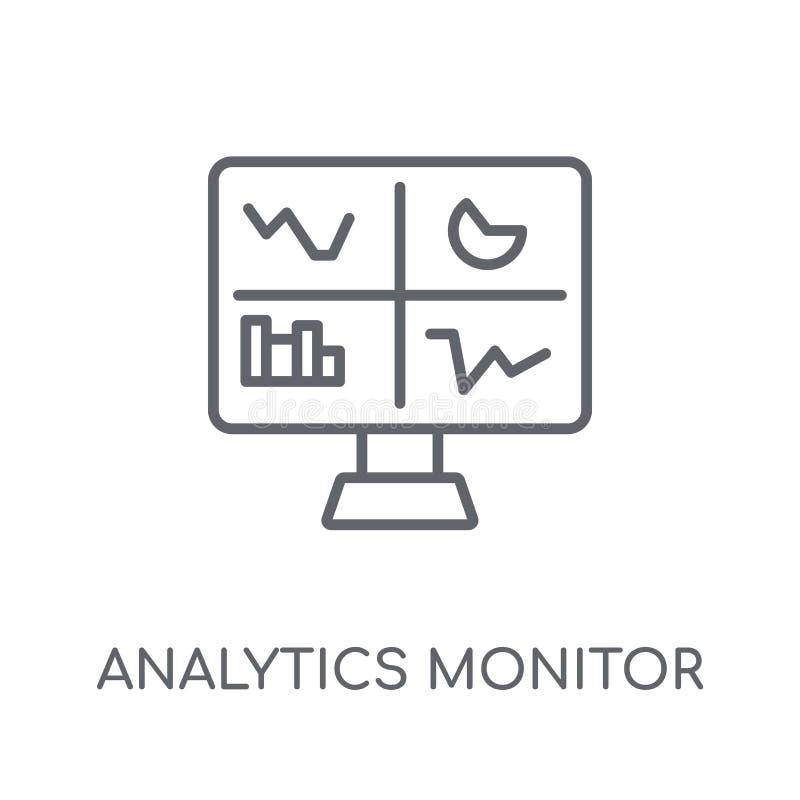 逻辑分析方法监测线性象 现代概述逻辑分析方法显示器 库存例证