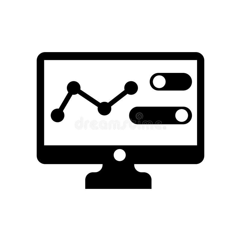 逻辑分析方法象在白色backgrou和标志隔绝的传染媒介标志 向量例证