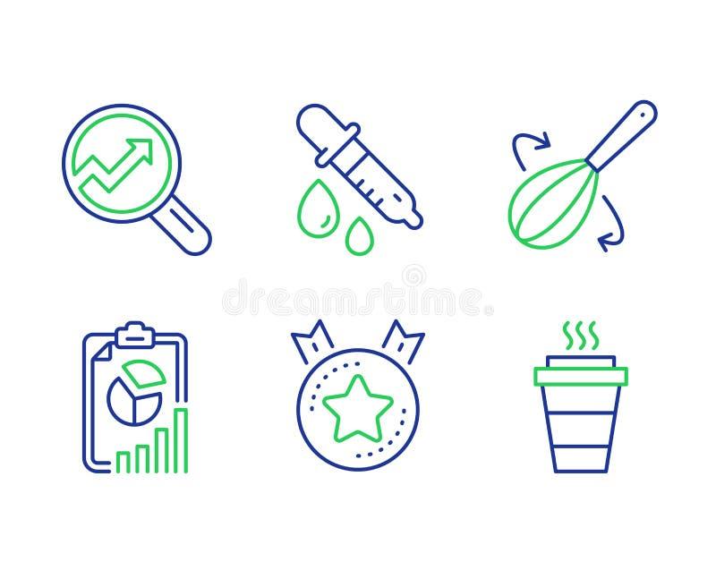 逻辑分析方法,排列的星和烹调飞奔象集合 化学吸移管,报告和饭菜外卖点标志 ?? 库存例证
