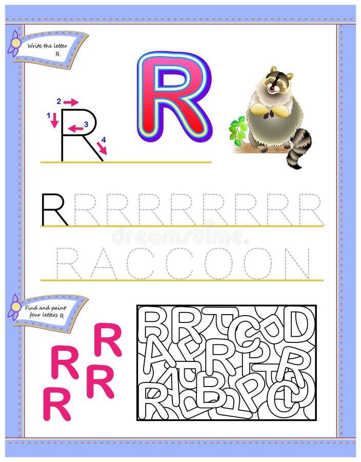 逻辑难题比赛 写和读的开发的儿童技能 皇族释放例证