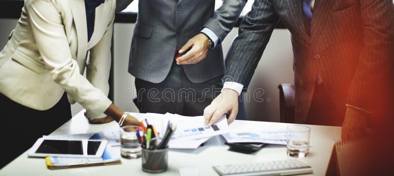 遇见公司连接配合概念的商人 图库摄影
