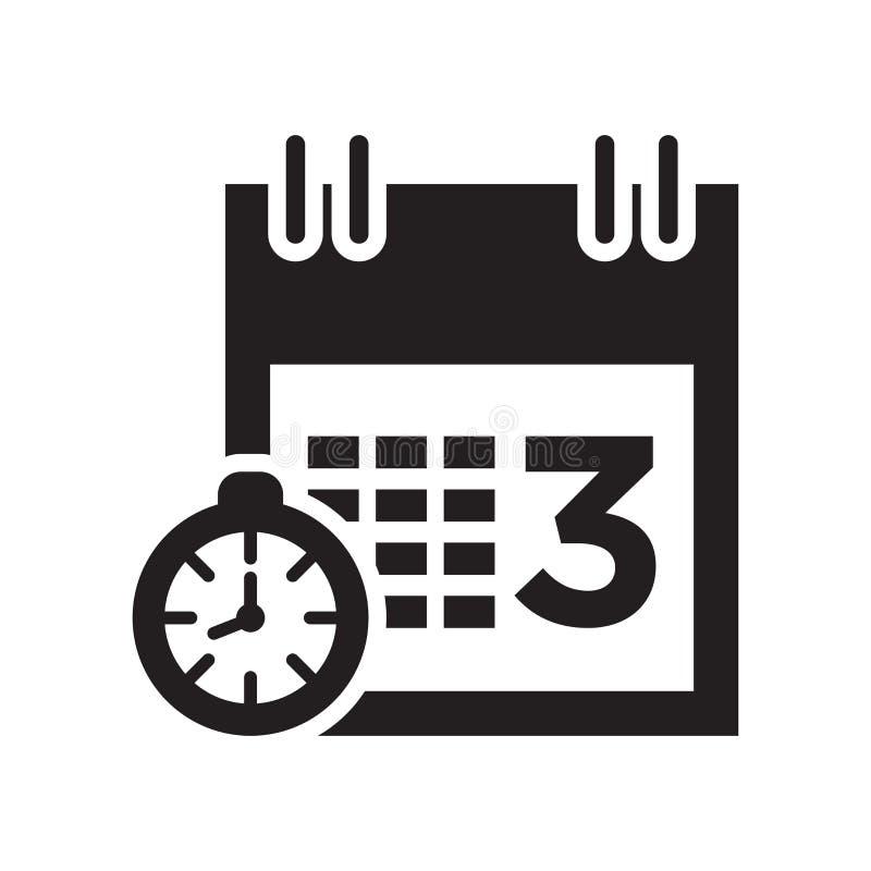 遇见日期象在白色背景和标志隔绝的传染媒介标志,遇见日期商标概念 皇族释放例证
