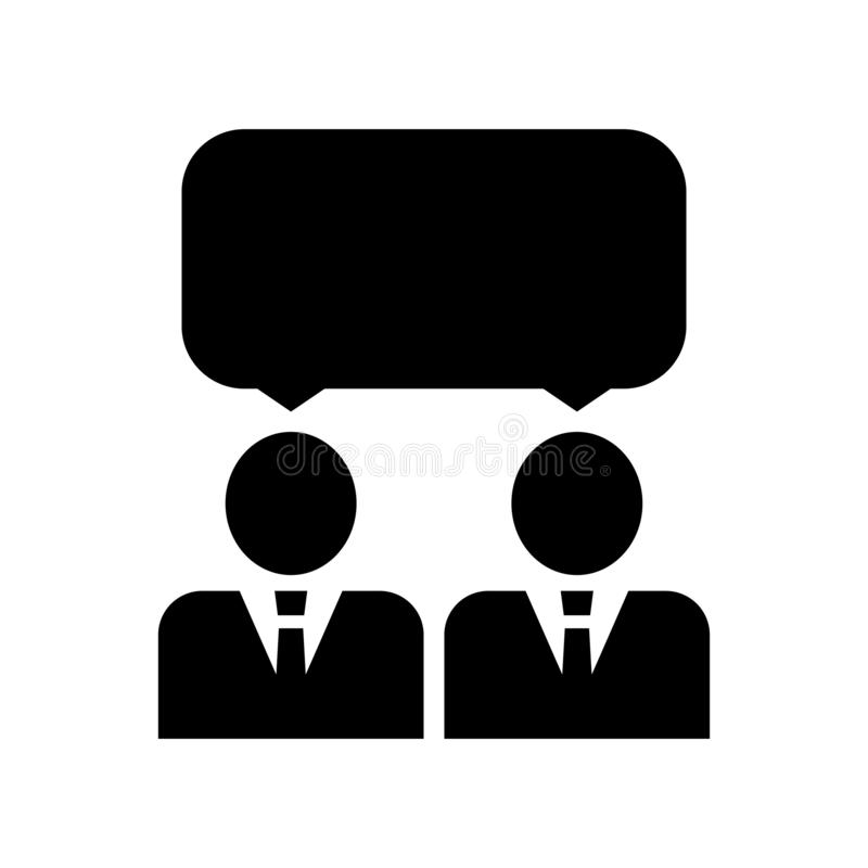 遇见象设计模板传染媒介被隔绝的例证 象会议 人类相互影响象 r 向量例证