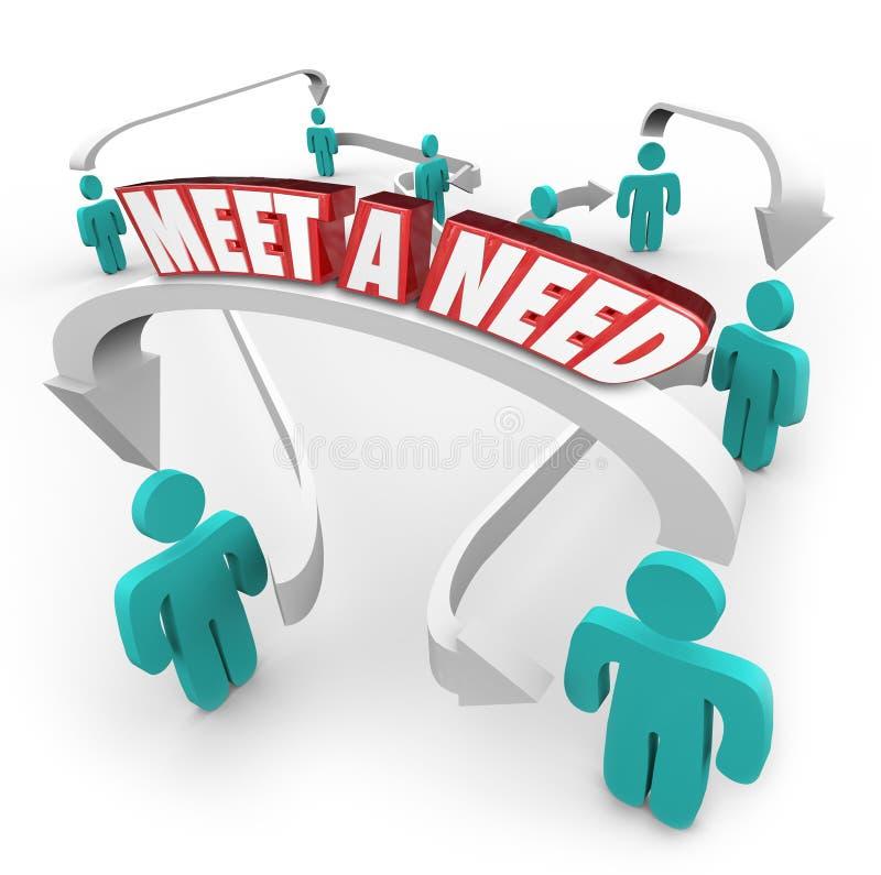 遇见需要3d词被连接的买家卖主产品服务  向量例证