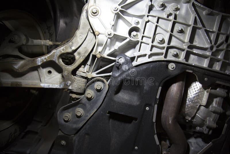 遏制损坏的车飞机脚架 免版税图库摄影
