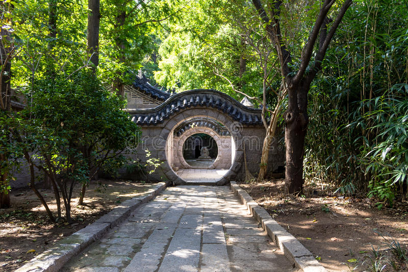 道士寺庙,老山山,青岛,中国 免版税库存图片