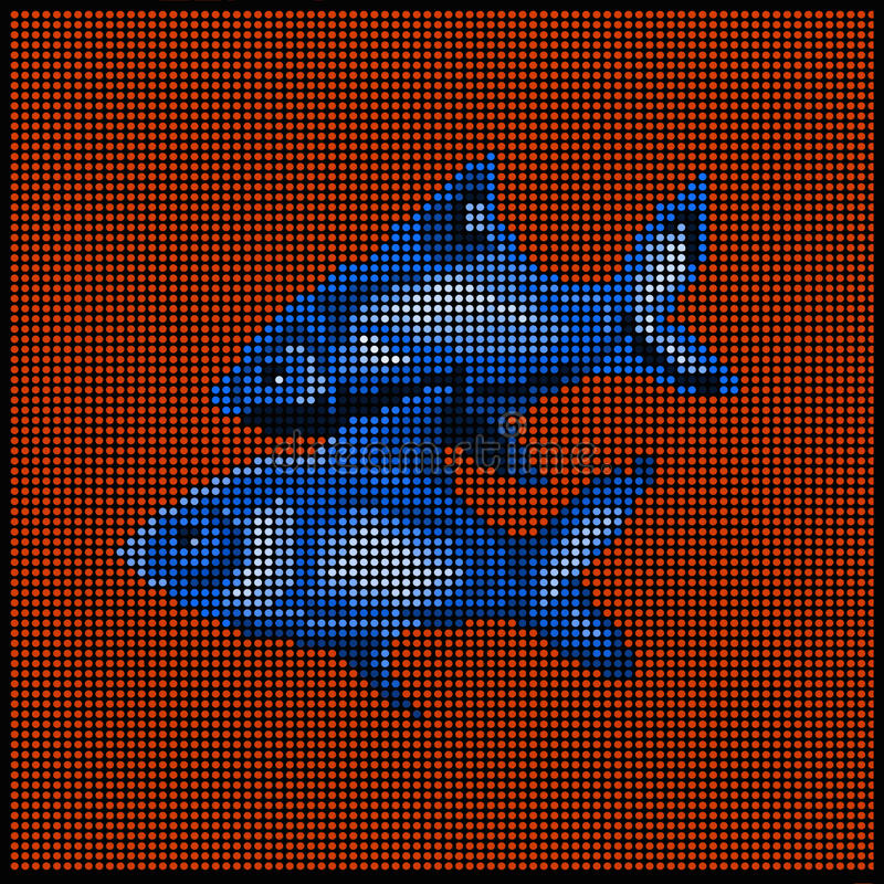 黄道带签字-鱼- 向量例证